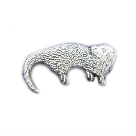 Otter Pewter Pin Badge